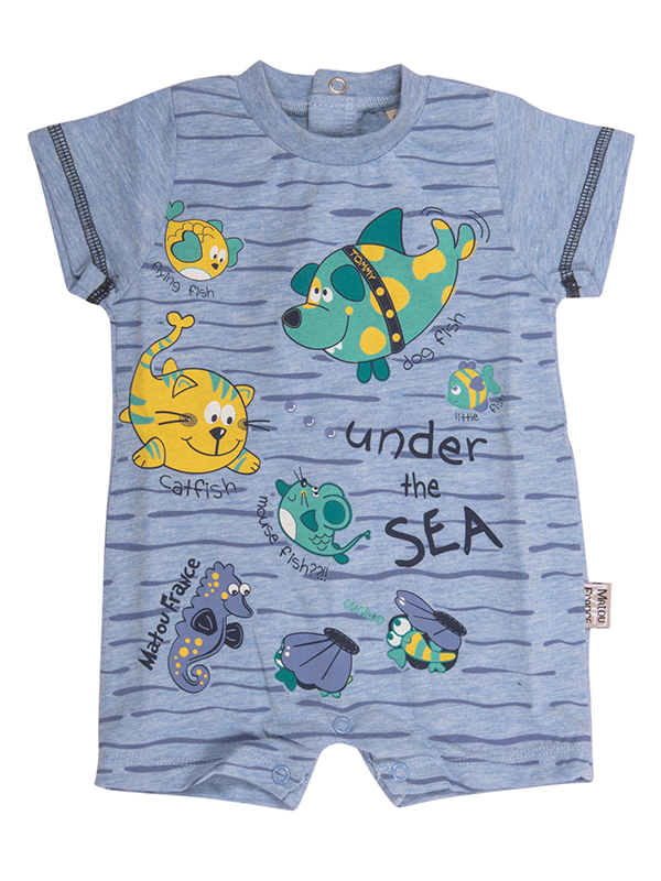 Bodysuit UNDER THE SEA LIGHT BLUE
