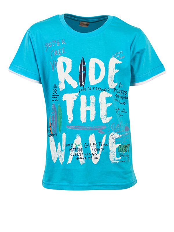 T-Shirt  RIDE THE WAVE TURQUOISE