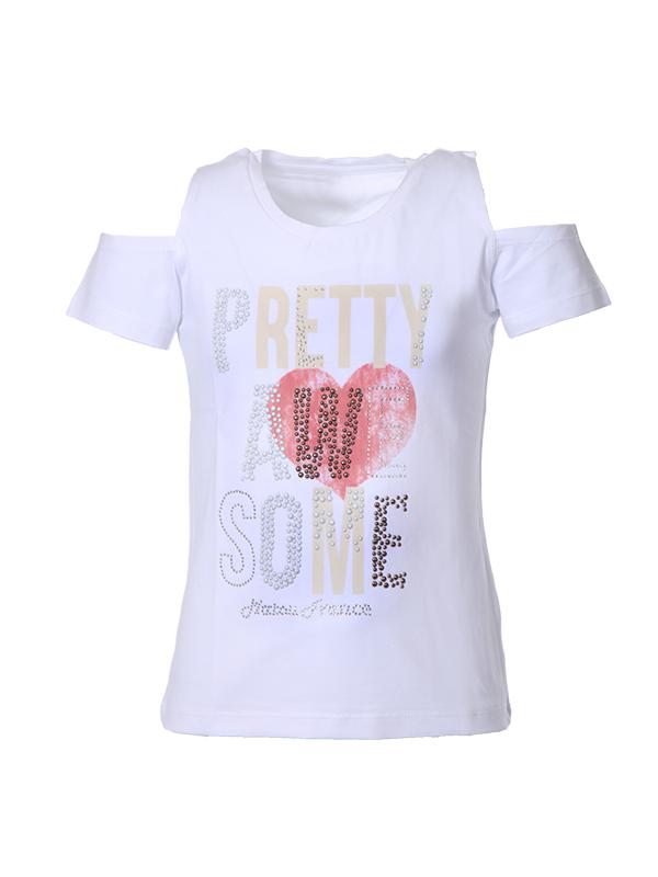 T-shirt pretty white 2-16 years
