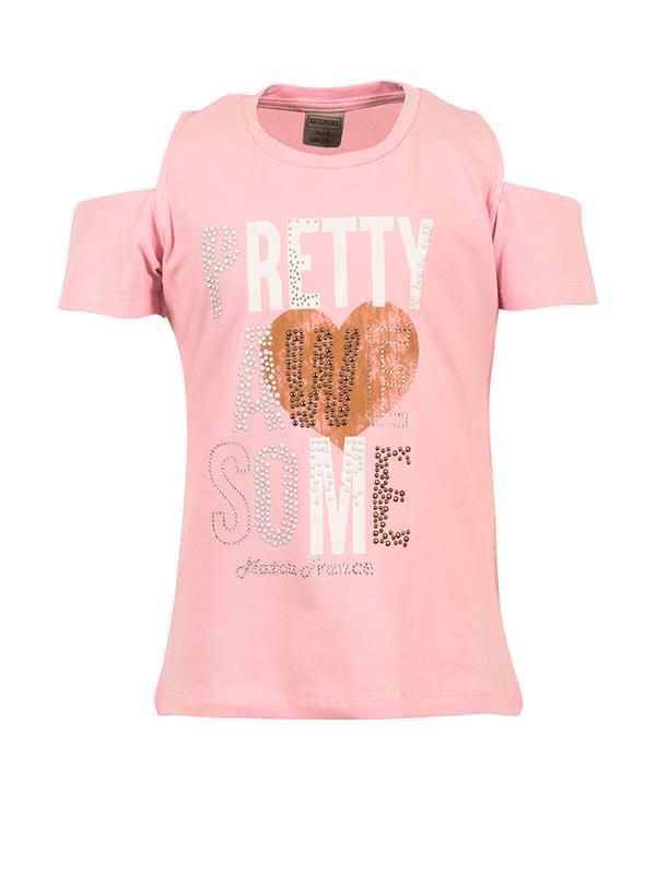 T-shirt pretty pink 2-16 years