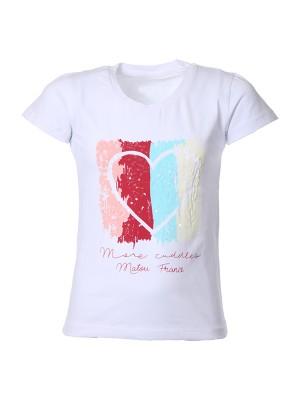 T-shirt WHITE love  2-16