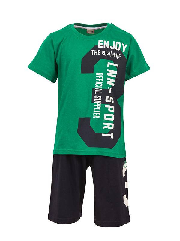 Shorts Set ENJOY YHE GAME GREEN