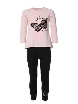 Leggings Set BUTTERFLY SAUMON