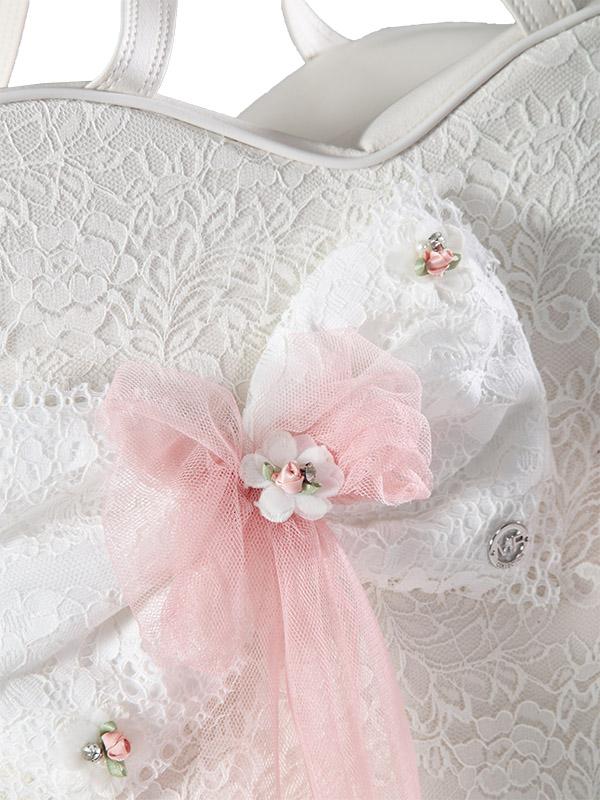 Baptism Bag HEART Pink