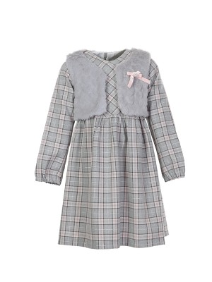 Dress GRAY CHEQUE