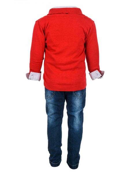 Trousers Set JACKET RED