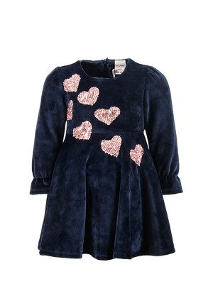 Dress HEARTS BLUE