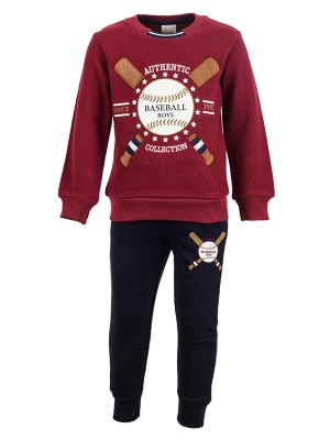 Tracksuit BASEBALL BOYS BORDEAUX