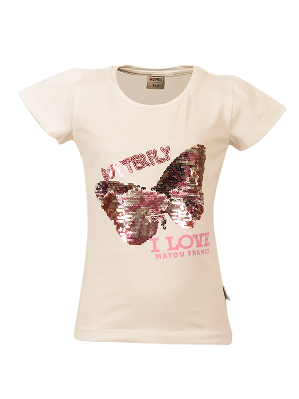T-Shirt BUTTERFLY OFF WHITE