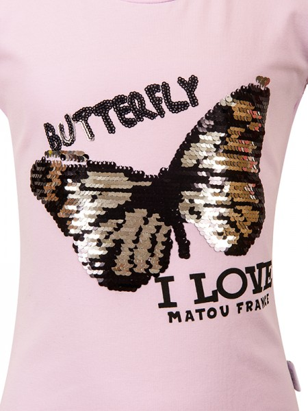 T-Shirt BUTTERFLY LILAC