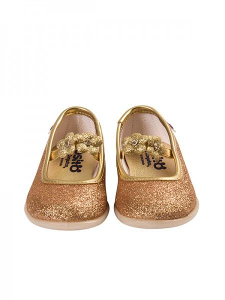 Ballerinas CONGUITOS GOLD FLOWERS
