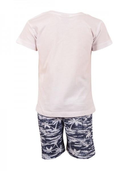bebe Shorts Set WHITE